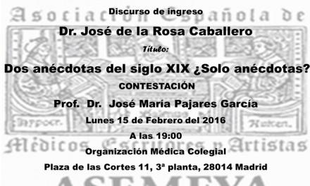 Ceremonia de ingreso – Asociación Española de Médicos Escritores y Artistas