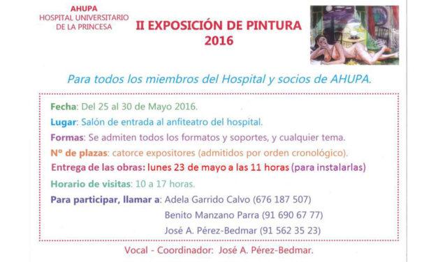 II. Exposición de Pintura 2016 – Ahupa, Hospital Universitario de la Princesa