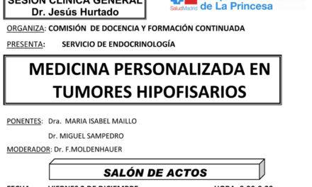Sesión Clínica 2 de Diciembre – Medicina Personalizada en Tumores Hipofisarios