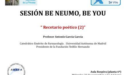 Sesión Be Neumo 22 de Noviembre – Recetario poético 2