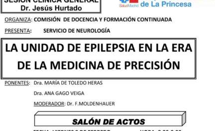 Sesión Clínica 9 de Febrero – La unidad de epilepsia en la era de la medicina de precisión