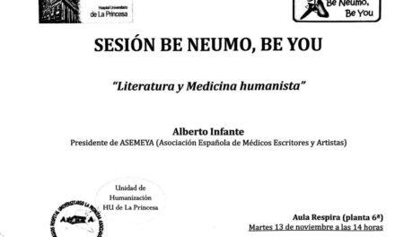 Sesión Be Neumo 13 de Noviembre – Literatura y Medicina Humanista
