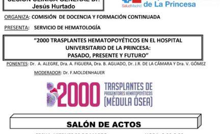 Sesión Clínica 29 de Marzo – 2000 Transplantes Hematopoyéticos en el Hospital.