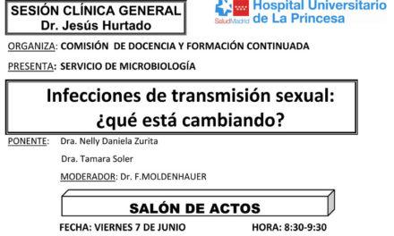 Sesión Clínica 7 de junio – Infecciones de transmisión sexual, ¿qué está cambiando?