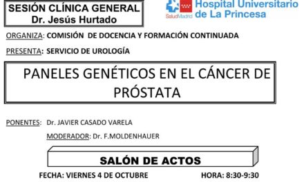 Sesión Clínica 4 de octubre – Paneles genéticos en el cáncer de próstata