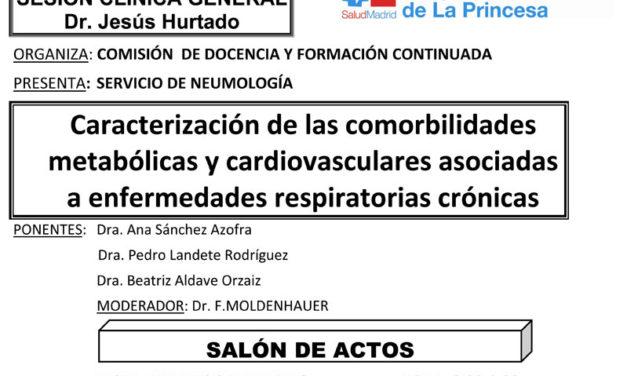 Sesión Clínica 31 de enero – Caracterización de las comorbilidades metabólicas y cardiovasculares asociadas a enfermedades respiratorias crónicas