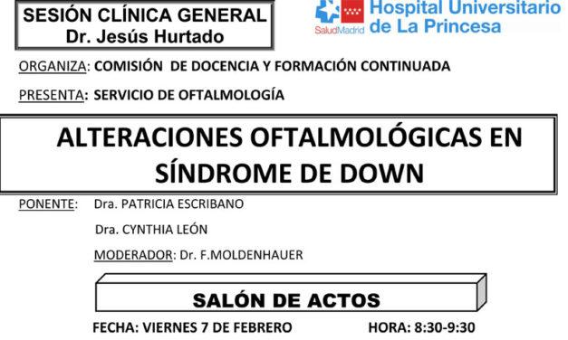 Sesión Clínica 7 de febrero – Alteraciones oftalmológicas en síndrome de down